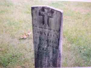 Headstone of John Lucey. St. Augustine's Cemetery, Andover, MA