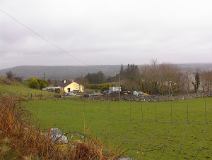 The view from Upper Shronaboy, the O'Donoghue family farm.