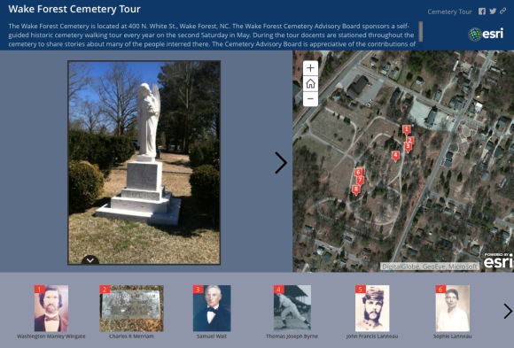 WF Cemetery Tour Screenshot
