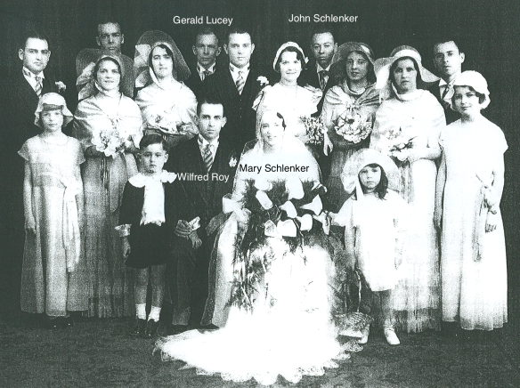 28 April 1932 Wedding of Mary Schlenker and Wilfrid Roy