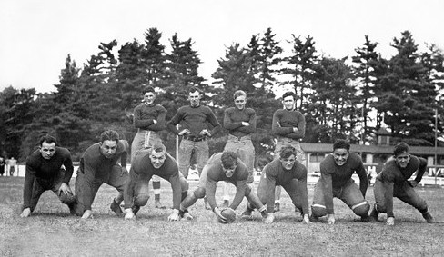 Rochester High Football, 1931-32. Vinny on the far left, front row