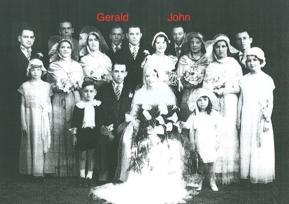John and my great uncle Gerald were groomsmen in John's sister Mary's wedding on 28 Apr 1932.