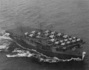 USS Block Island in Oct 1943. By US Navy Employee - U.S. National Archives photo #80-G-87149., Public Domain, https://commons.wikimedia.org/w/index.php?curid=6338946